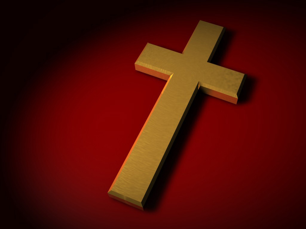 cross-wood-redbackground